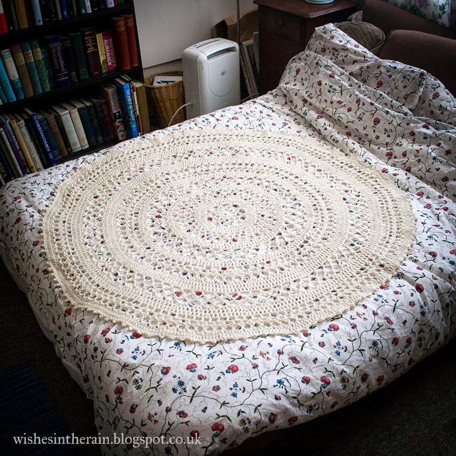 crochet lace throw