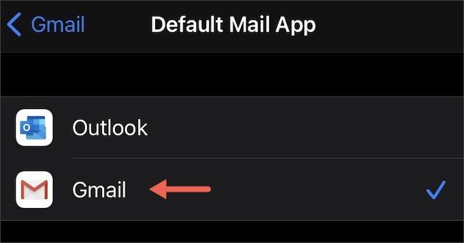 """اضغط على """"Gmail""""."""