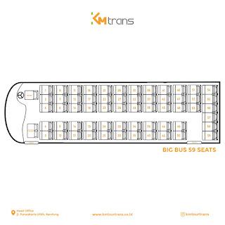 Denah Sewa Bus Pariwisata 59 Seats