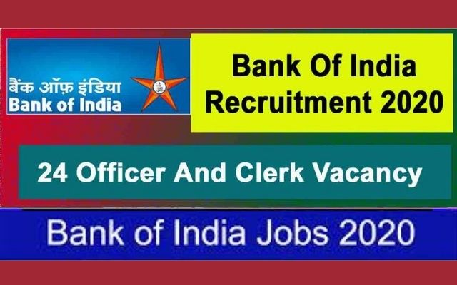 BOI Recruitment 2020 for 28 Officers, Clerks Posts