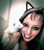 ferret kisses petplay love sexy goth girl cat ears kittenplay bdsm