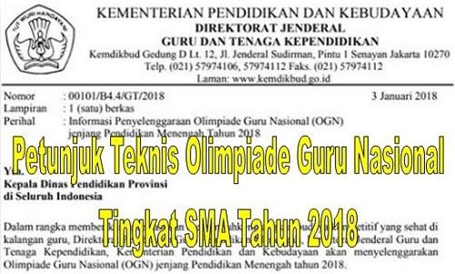 Petunjuk Teknis Olimpiade Guru Nasional Tingkat SMA Terbaru