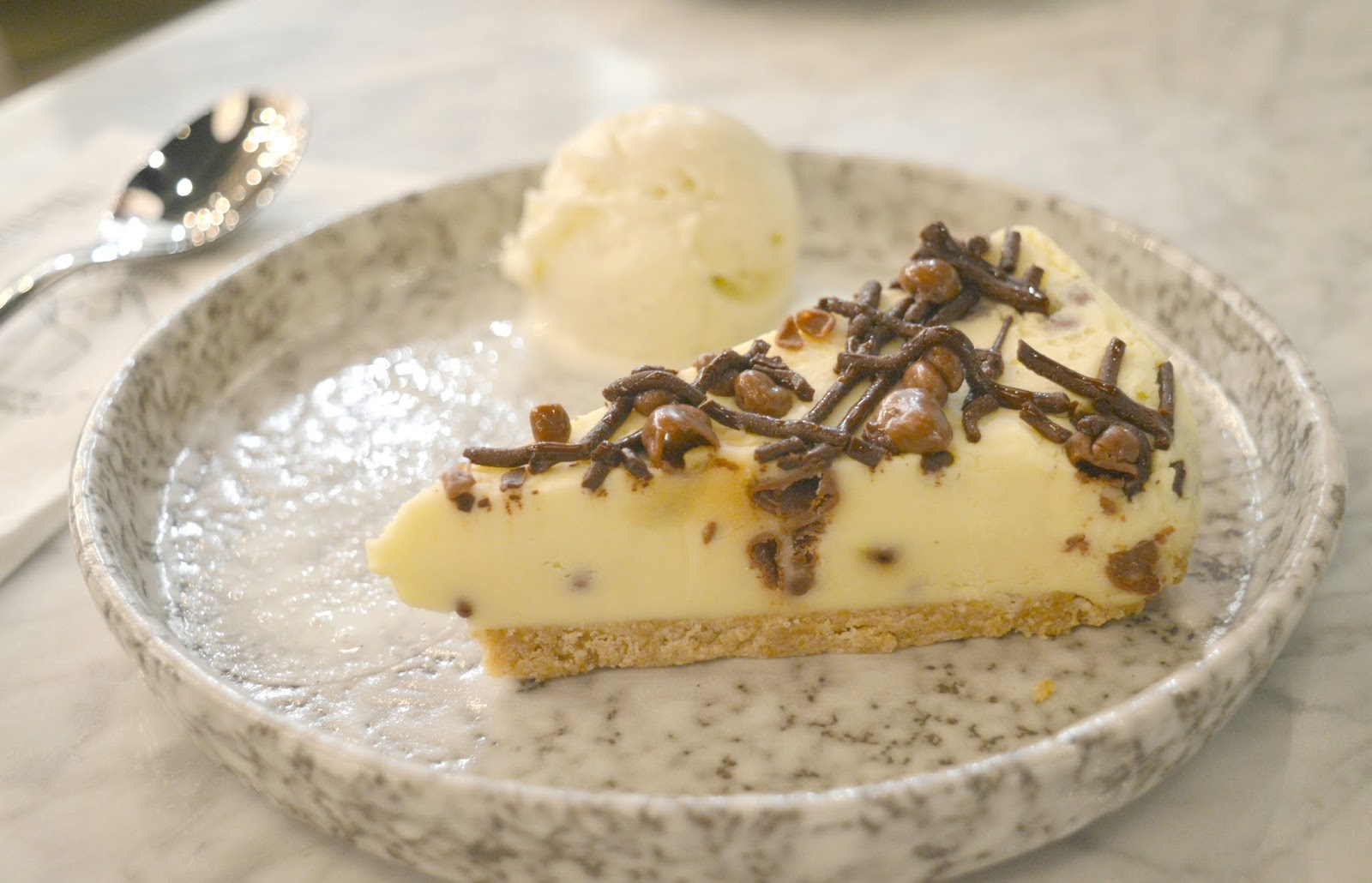 Intu Eldon Square: Grey's Quarter - ASK Italian Honeycomb Cheesecake