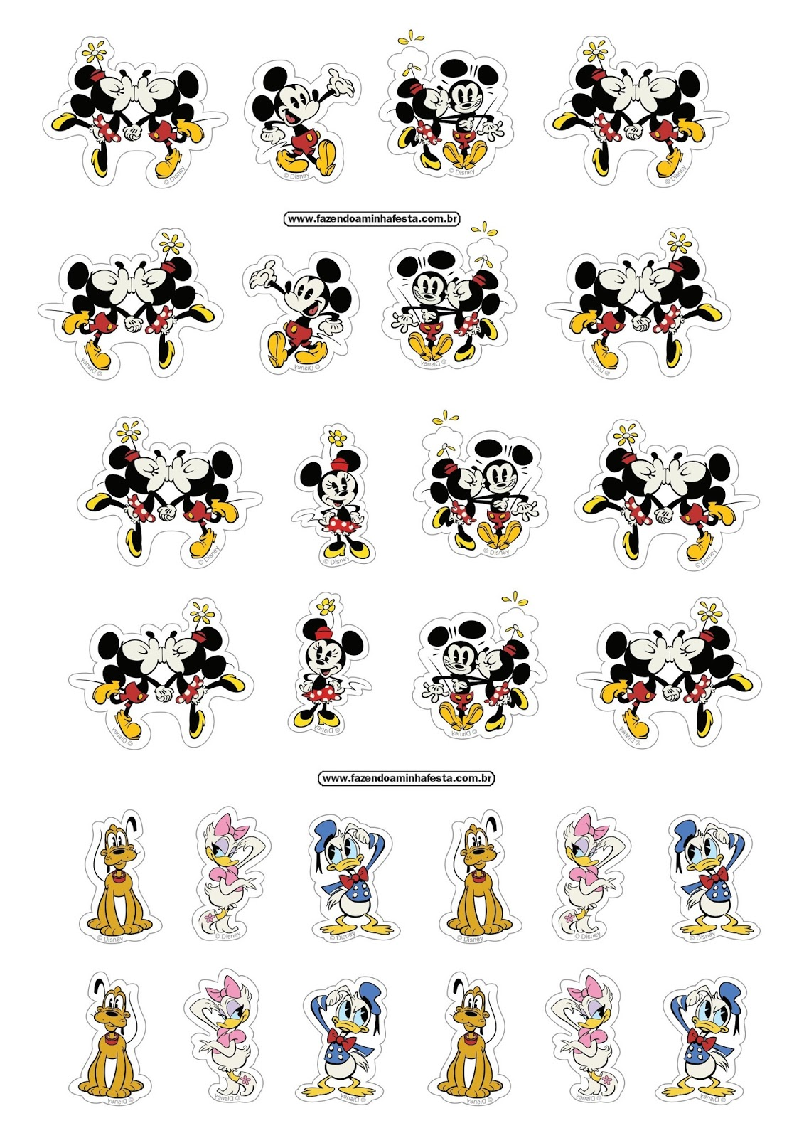 Mickey and Friends: Free Printable Stickers. - Oh My ...