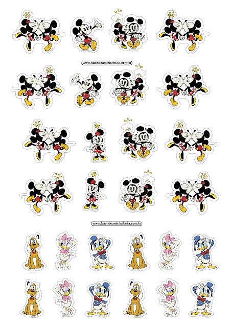 Stickers de Mickey y sus Amigos para Imprimir Gratis.
