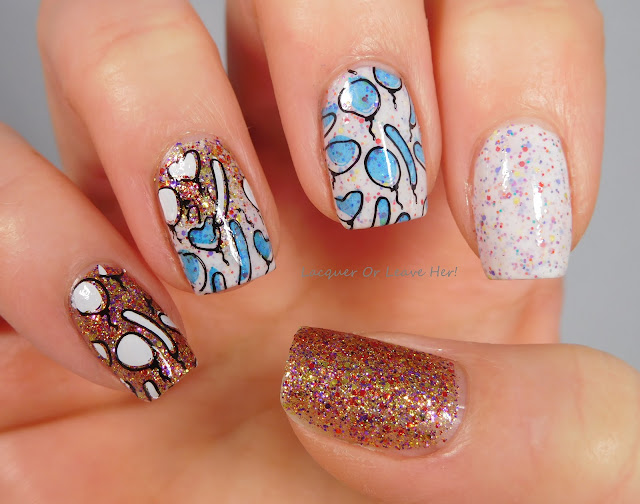 UberChic Beauty Party Time plate over Girly Bits Just The Tip and Holy Sh!tsnacks!
