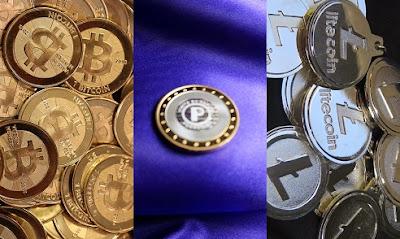 bitcoins, peercoins y litecoins