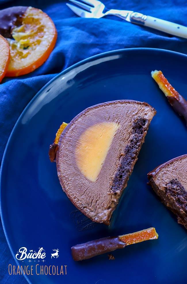 recette buche orange chocolat