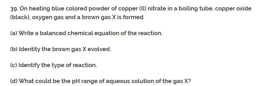 CH-1 Class 10th NCERT Exemplar Question Answer classXscience Q39.