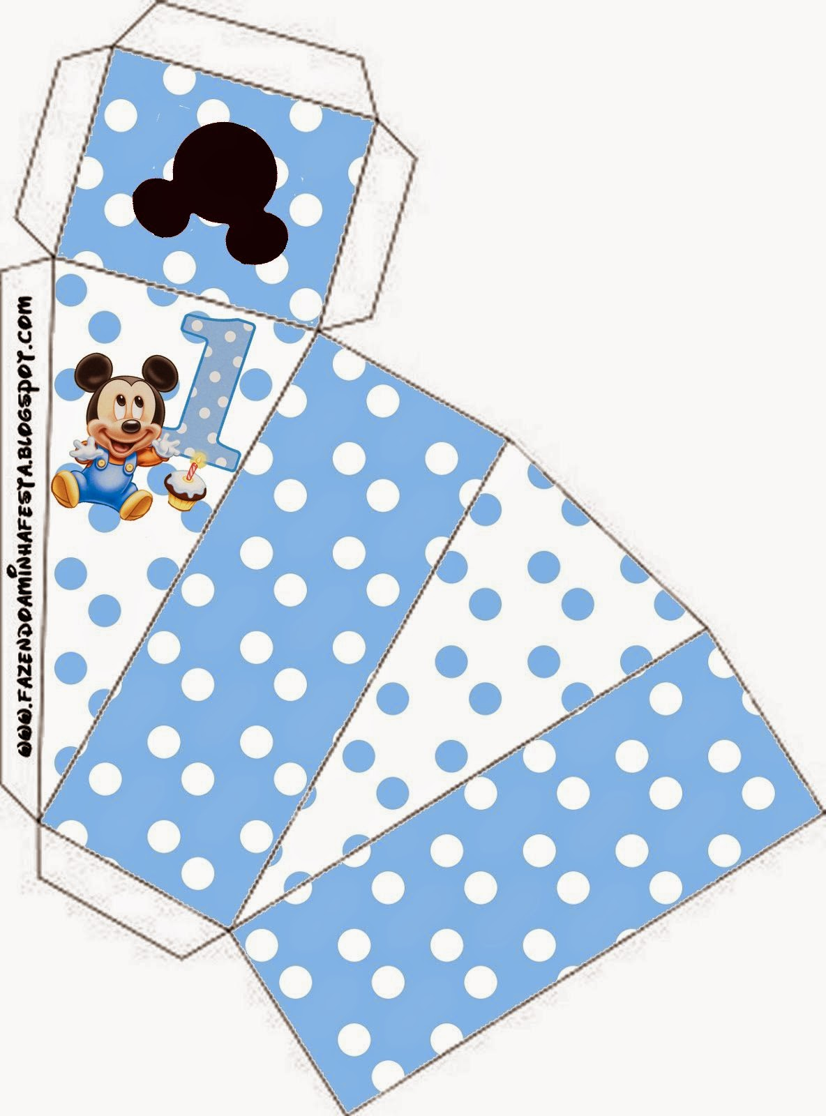 First Year of Mickey with Polka Dots: Free Printable boxes. | Oh My ...