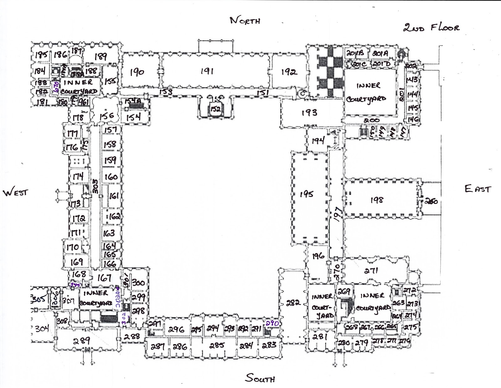 Winter Palace Research Plan List Of The 2nd Floor Of The Winter Palace