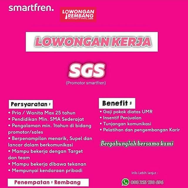 Lowongan Kerja Gadget Specialist (SGS/Sales Promotor) Penempatan Smartfren Rembang