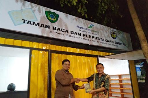 MPI Muhammadiyah Sulsel Kunjungi Taman Literasi KNPI Maros