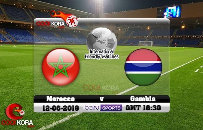مشاهدة مباراة المغرب وغامبيا بث مباشر بتاريخ 12-06-2019 مباراة ودية