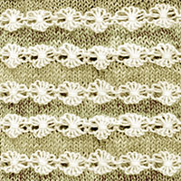 Flowers in a Row #TexturedKnitting | Knitting Stitch Patterns.
