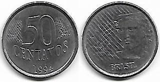 Moeda de 50 centavos, 1994