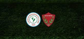 Rizespor Hatayspor canlı maç izle