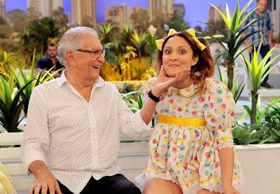 Carlos Alberto e Dalila (Crédito: Lourival Ribeiro/SBT)
