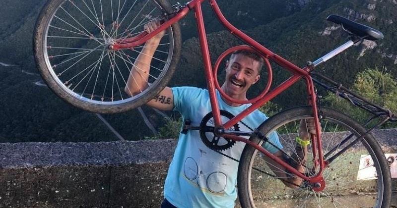 Tem Na Web - Com bicicleta barra circular, atleta de Prudentópolis é vice campeão na Serra do Rio do Rastro
