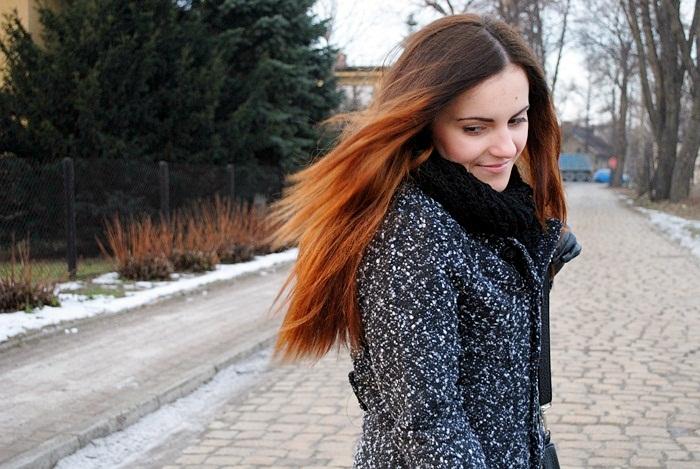 rude włosy ombre