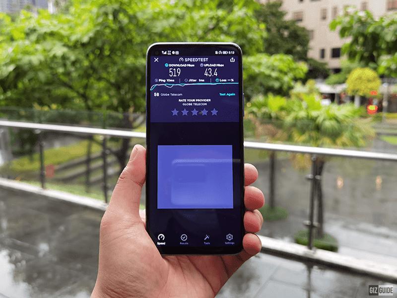 Huawei nova 7 SE 5G speed test