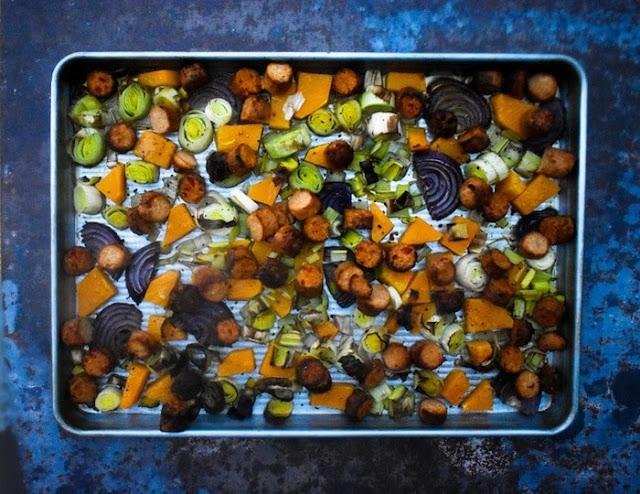 Step 5 - Roast vegetables and sausages