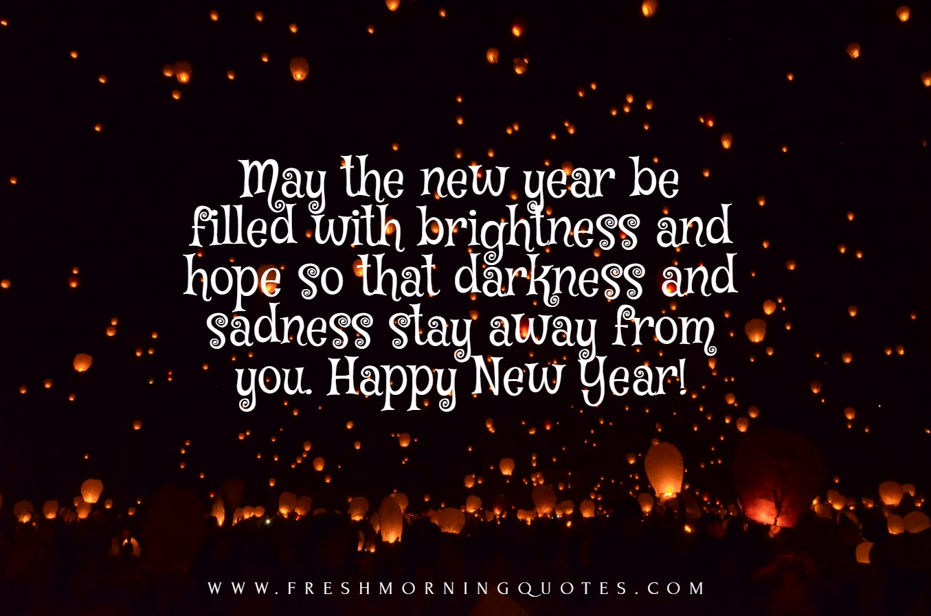 may this new year fill with brightness and hope