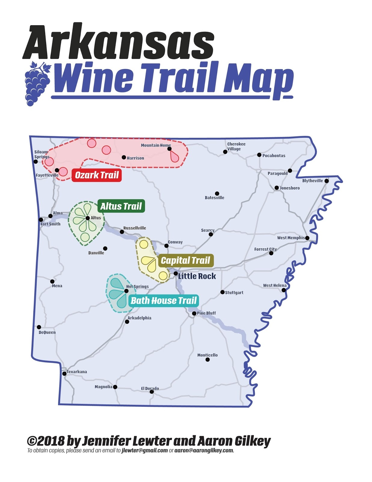 The Elegant Astronaut New Arkansas Wine Trail Maps