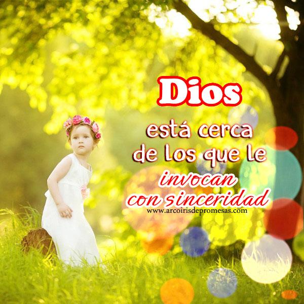 dios está cerca de ti reflexiones cristianas con imágenes arcoiris de promess