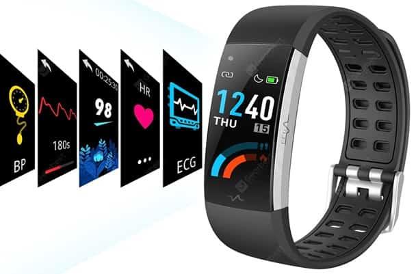 Alfawise I7E: pulsera inteligente con monitor de ritmo cardíaco y sueño