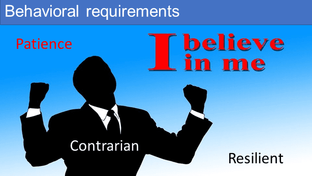 Behavioural requirements for value investing