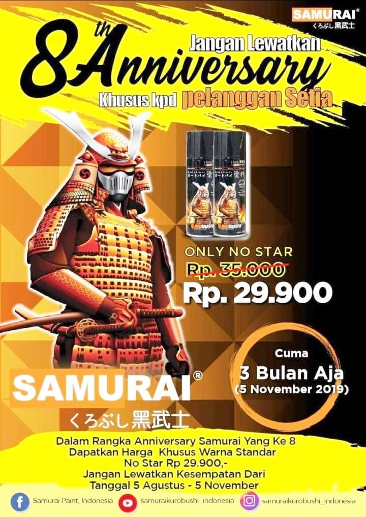 Promo Spesial, Beli Cat Samurai di Toko Sumber Warna Hanya Rp 29.000