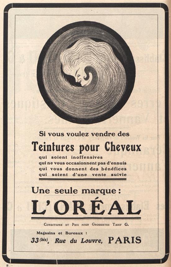 L'Oréal ad 1911