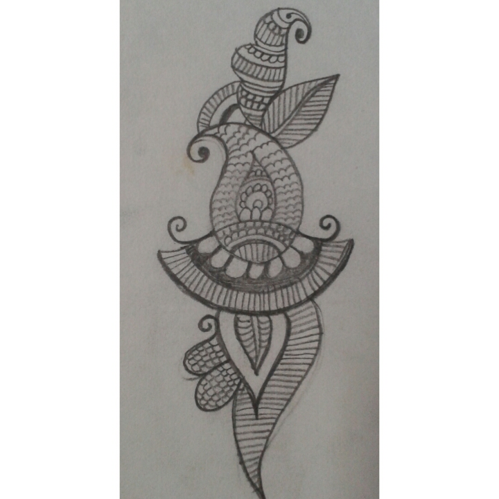 Pencil Drawings Of Mehndi Designs