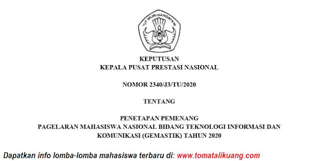 sk pemenang gemastik xiii 13 tahun 2020 pdf tomatalikuang.com