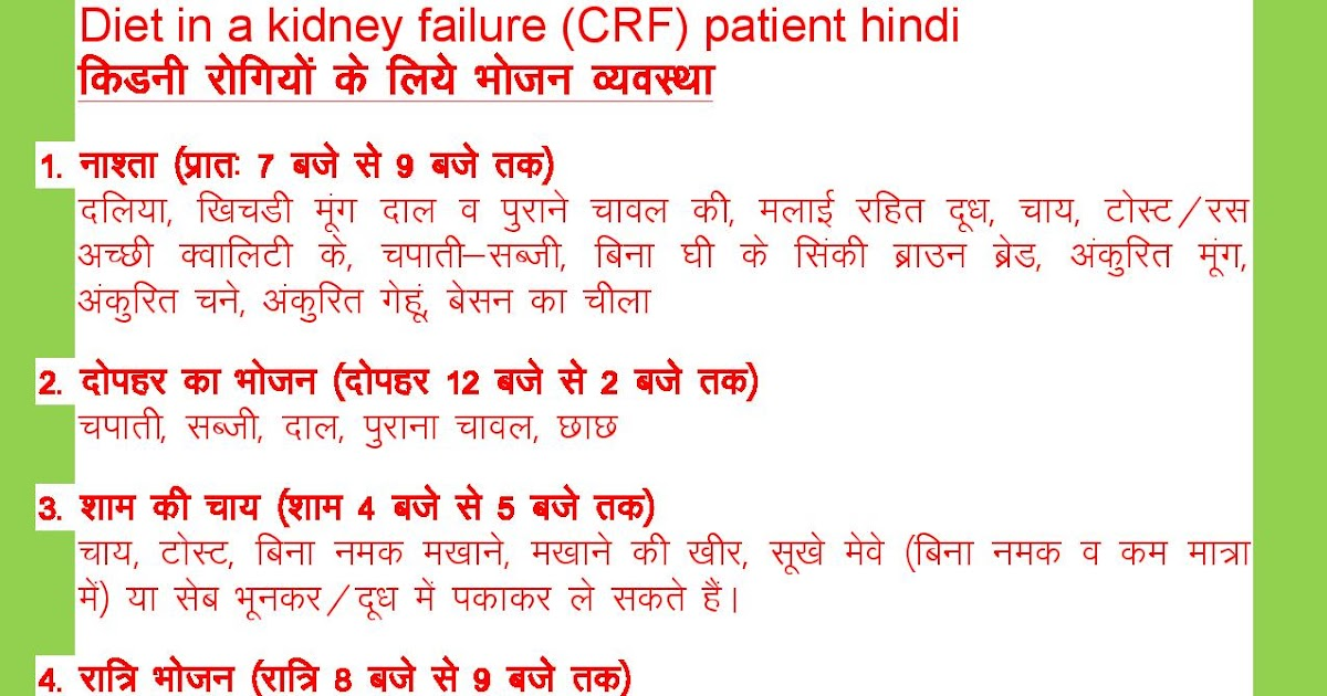 Dr Chauhan S Blog Diet In A Kidney Failure Crf Patient Hindi