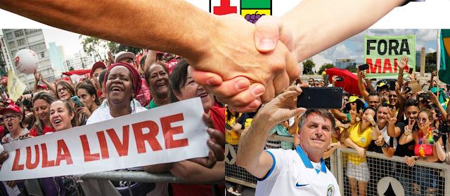 Petistas e Bolsonaristas em Colombo estão juntos para enganar o povo