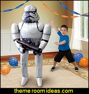 Star Wars Stormtrooper Airwalker Birthday Jumbo Foil Balloon