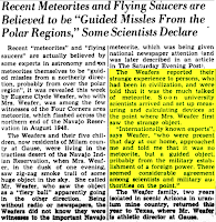 Metorites and Flying Saucers - The Rockdale Reporter and Messenger (Highlighted) (Rockdale, Tex.) 1-2-1950