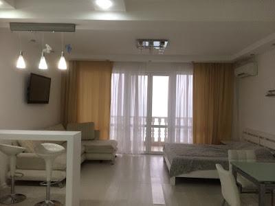 1-комнатные апартаменты (вариант 13) отельного комплекса в Семидворье