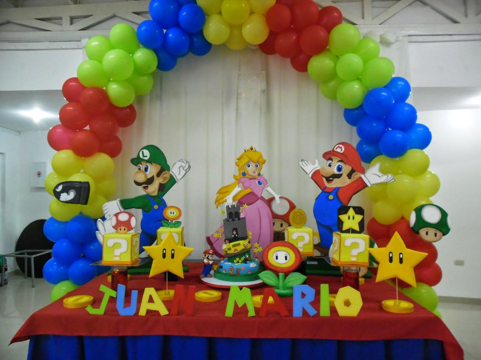 Payasita Caramelo Decoracion Mario Bros