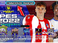 eFootball PES 2022 PPSSPP New Season Full Update Transfer & Camera PS4 Commentary Francais