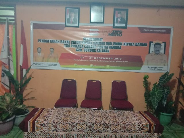Tim Penjaringan Partai Hanura Kabupaten Sorong Selatan  untuk  Pilkada 2020
