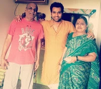 rohit sharma with her parents