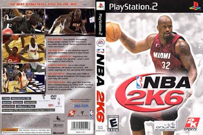 Descargar NBA 2K6 para PlayStation 2 en formato ISO región NTSC y PAL en Español Multilenguaje Enlace directo sin torrent. Es un videojuego de baloncesto desarrollado por Visual Concepts y publicado por 2K Sports. Es la séptima entrega de la NBA 2K franquicia y el sucesor de ESPN NBA 2K5. Fue lanzado en 2005 para PlayStation 2, Xbox y Xbox 360. Shaquille O'Neal es el atleta portada del juego. NBA 2K6 es el predecesor de NBA 2K7 en el NBA 2K serie y es el primer título de la NBA 2K para ser lanzado por 2K Sports.