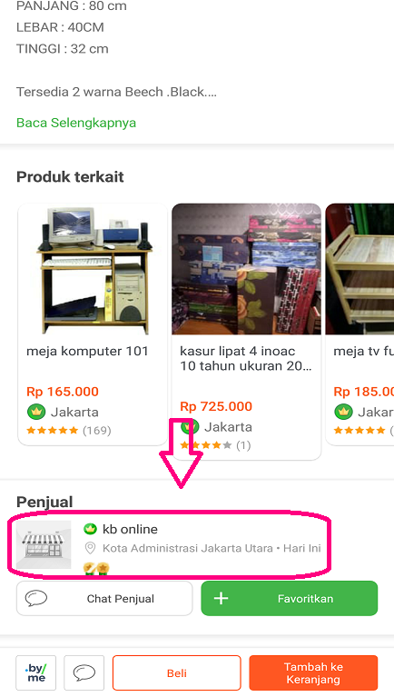 Cara Mengunjungi Toko Penjual Produk di Aplikasi Tokopedia.