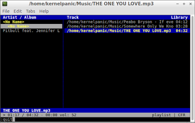cmus music player lubuntu