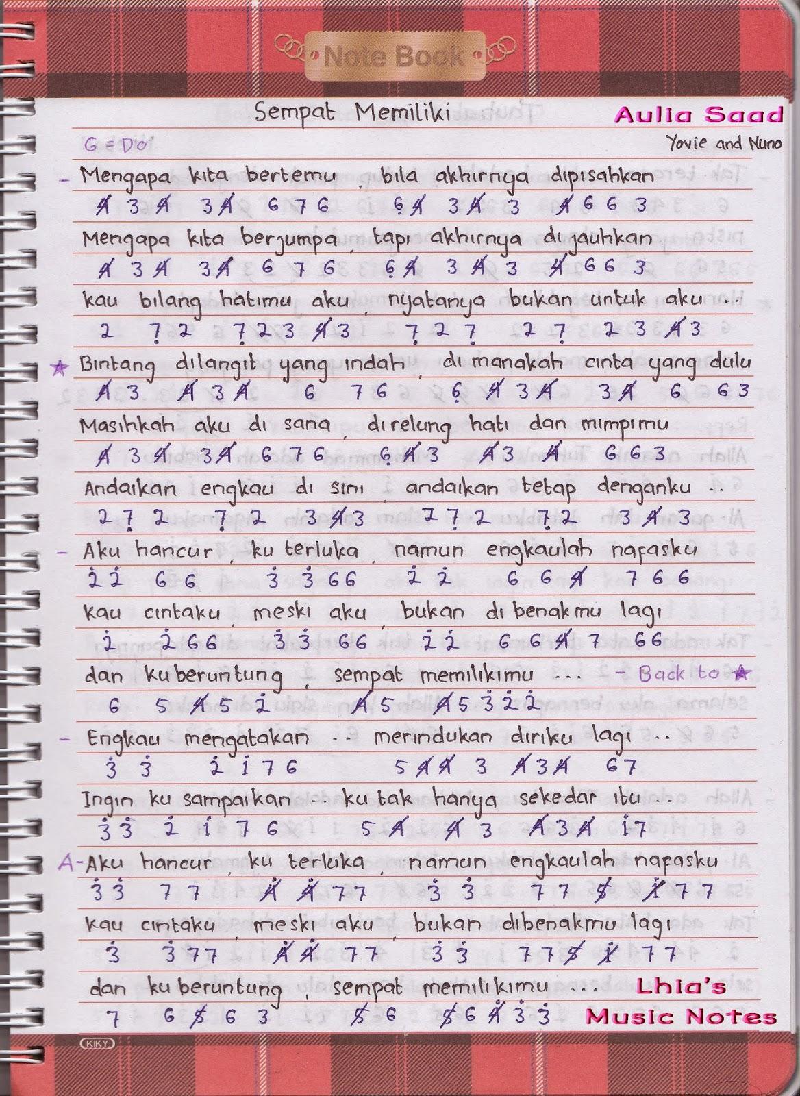 Chord Armada Apa Kabar Sayang : chord, armada, kabar, sayang, Lhianaaulia, Lhia's, Music, Notes, Laman