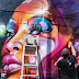 London Graffiti Artist Mr Cenz futuristic Brick Lane Street Art Mural