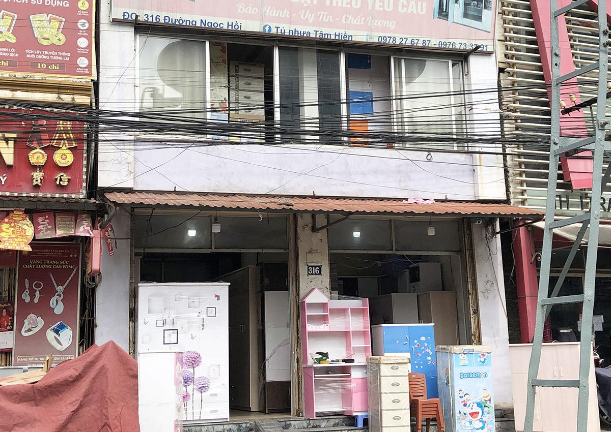 Cửa hàng Tủ nhựa Tâm Hiền ở 316 đường Ngọc Hồi